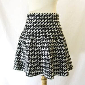 Candies Houndstooth Sweater Skater Skirt